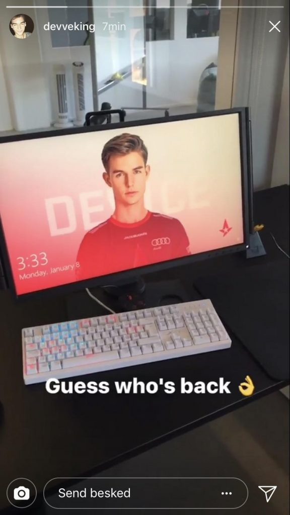 dev1ce confirmed his comeback via I